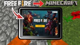 COMO JUGAR FREE FIRE con MINECRAFT