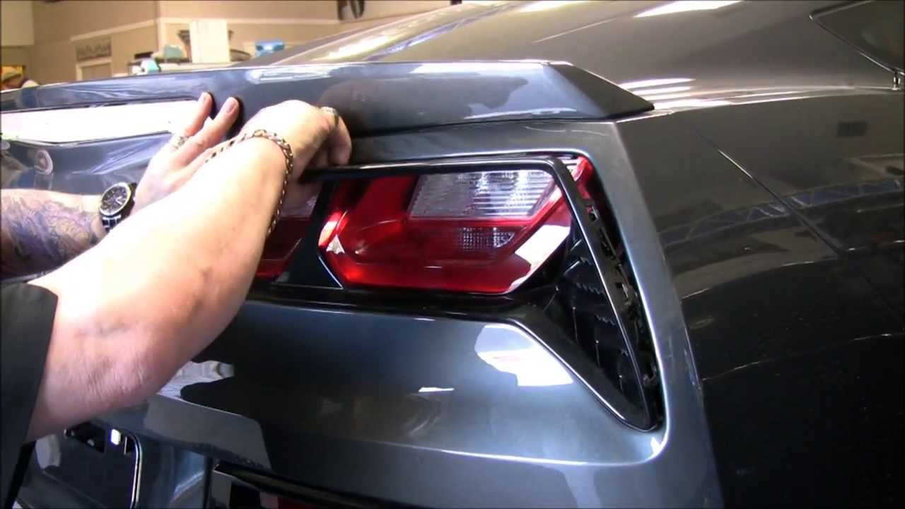 C7 Corvette Taillight Stingray Grille Install Video from American Car Craft