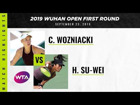 WTA Wuhan round 1 | Hsieh Su-Wei vs. Caroline Wozniacki | Highlights