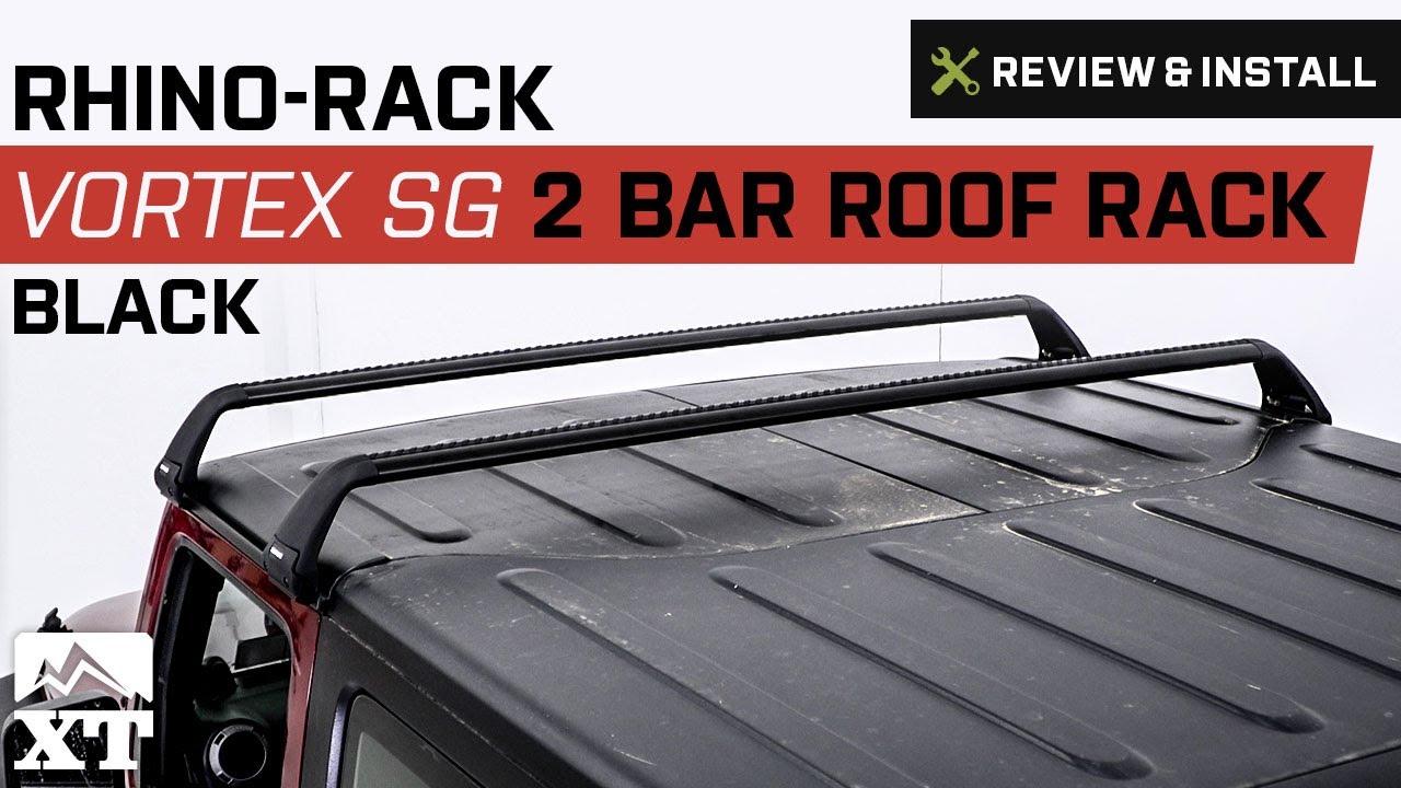 Jeep Wrangler Rhino Rack Vortex Sg 2 Bar Roof 2017 Jk Door Review Install