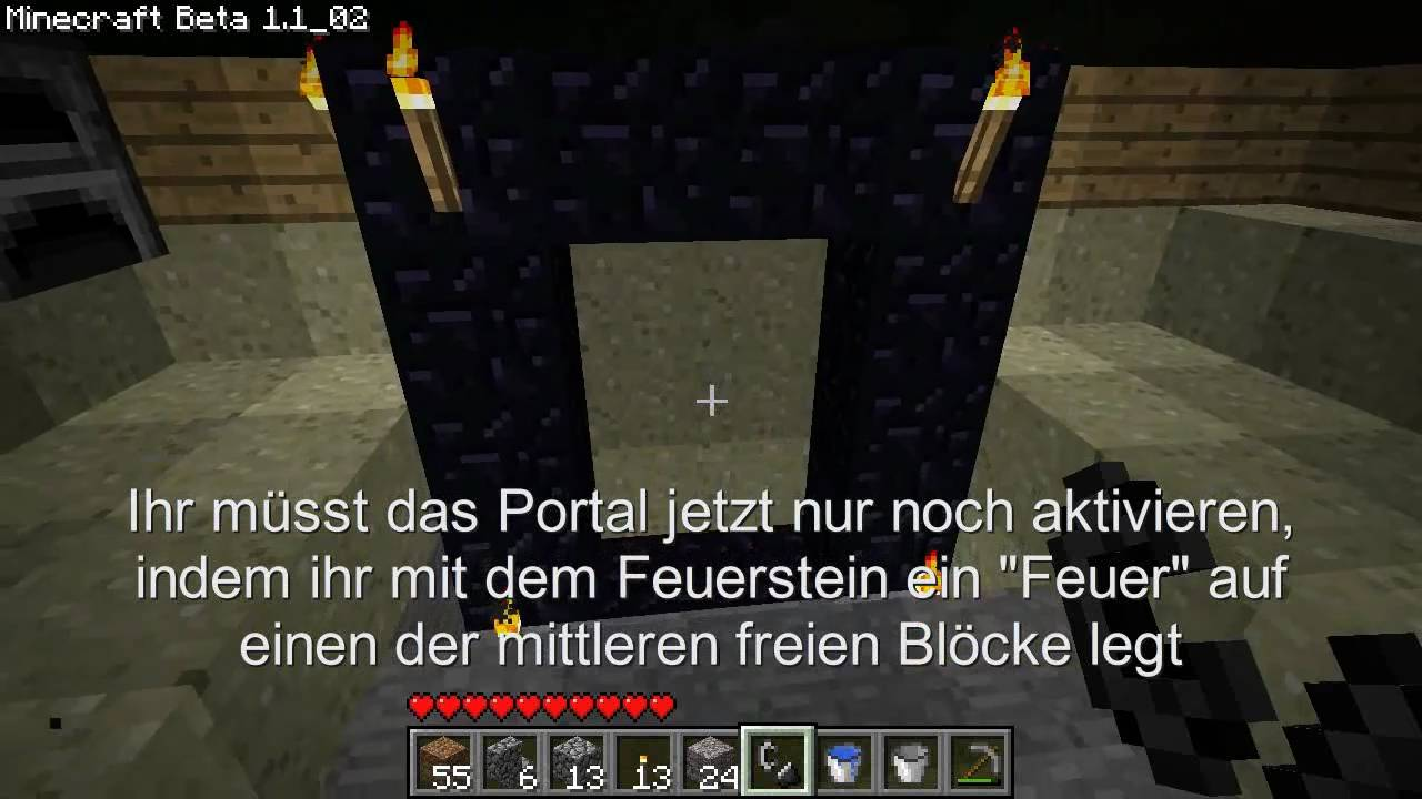 minecraft tutorial wie baue ich ein portal youtube. Black Bedroom Furniture Sets. Home Design Ideas