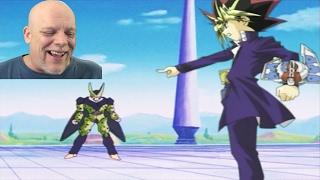 reaction video   tfs cell games cell vs yami yugi epic battle