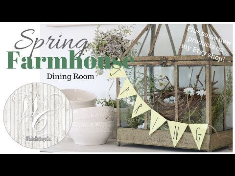Spring Dining Room & Kitchen Decor~Farmhouse Style Spring Decor~Easter Farmhouse