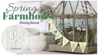Spring Dining Room & Kitchen Decor~Farmhouse Style Spring Decor~Easter Farmhouse