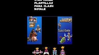 Cómo crear plantillas para Clash Royale!!! Desde Android