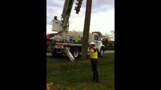 Power / Telephone Pole installation