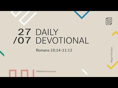 Daily Devotional with Megan Nicholas // Romans 10:14-11:12 Cover Image