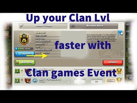 benefits of clan games event in ||Clash of clans | up your  Clans level up faster