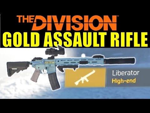 The Division: Liberator High End (Gold) Assault Rifle! | Dark Zone Loot