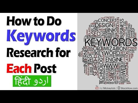 On Page SEO Course: How to Do Keyword Research for Each Post   Urdu/Hindi Tutorial