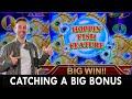Catching A Big Bonus 🐟 Hoppin' Fish Slot Machine 😸 #Konami ...