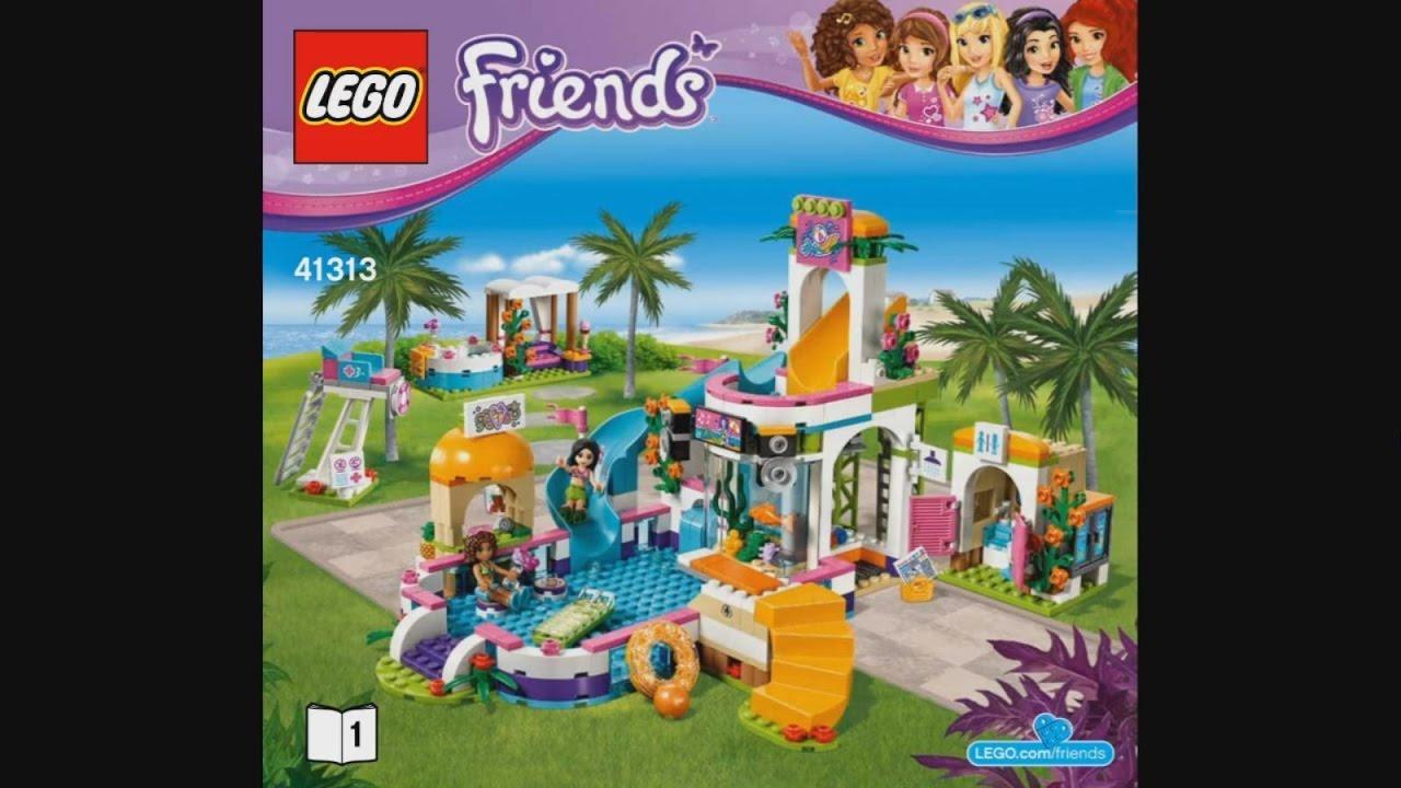 Lego Friends 41313 Heartlake Summer Pool Instruction