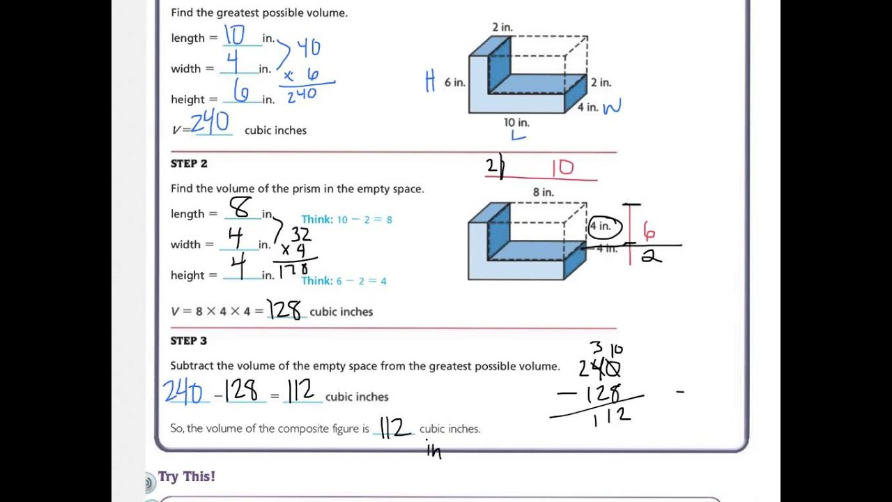 worksheet Volume Of Composite Figures Worksheet 5th go math 11 12 youtube