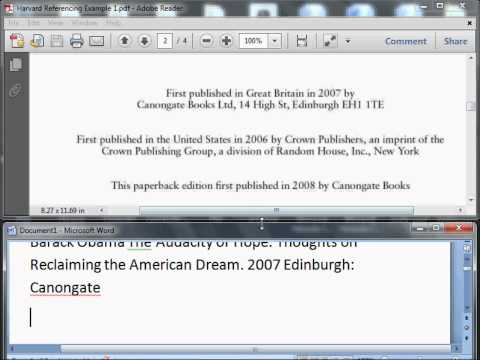 Harvard Reference Book Example 1 (HD)