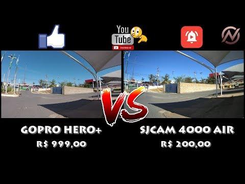 SJ4000 Air 4K Vs Gopro Hero + Tour Cuiabá.
