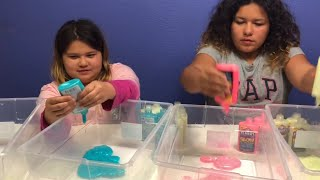 NEW ELMER'S GLOW IN THE DARK GLUE - MAKING FOUR GIANT SLIMES