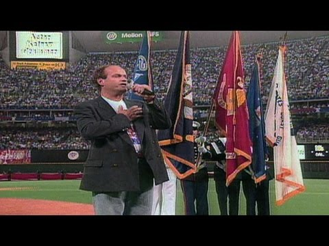 1996 ASG: Kelsey Grammer performs national anthem