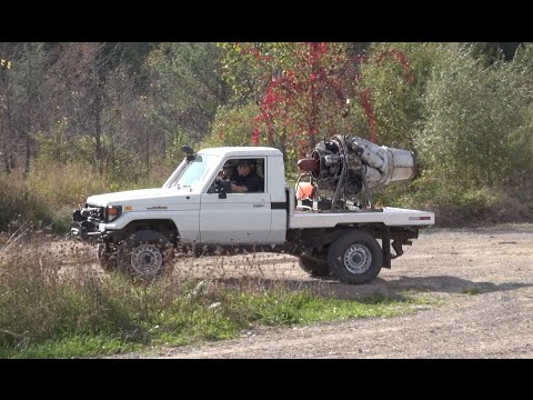 Land Cruiser Jet truck First start up!  PowerModz!