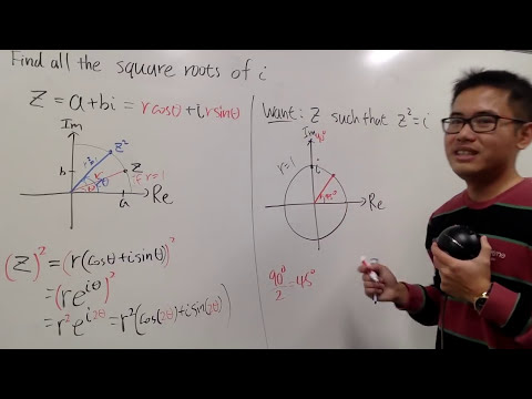 Sqrt(i), With Power & Rotation Of A Complex Number