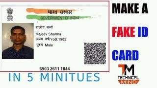 How to make fake id card for facebook