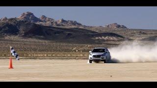 Рекорд скорости Hyundai ix35 Tucson на водородных топливных элементах смотреть