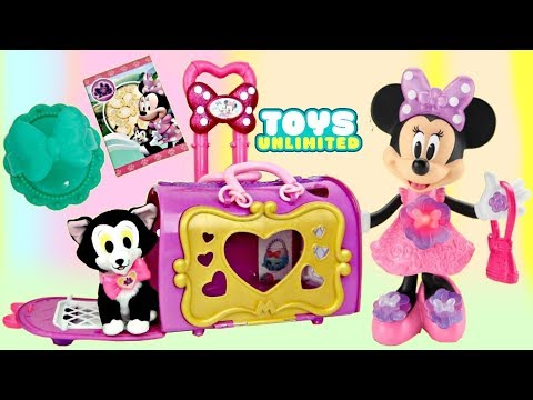 Thumbnail: Disney Jr. Minnie Mouse Happy Helpers Pet Cat Bag Carrier, Figaro, Carry on Toy Surprises / TUYC