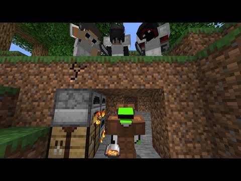 Minecraft Speedrunner VS 3 Hunters FINALE REMATCH
