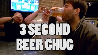 3 Second Beer Chug In New Orleans