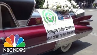 Hearses, Songs And Drones: How Colombian Police Get The Coronavirus Message Across | NBC News
