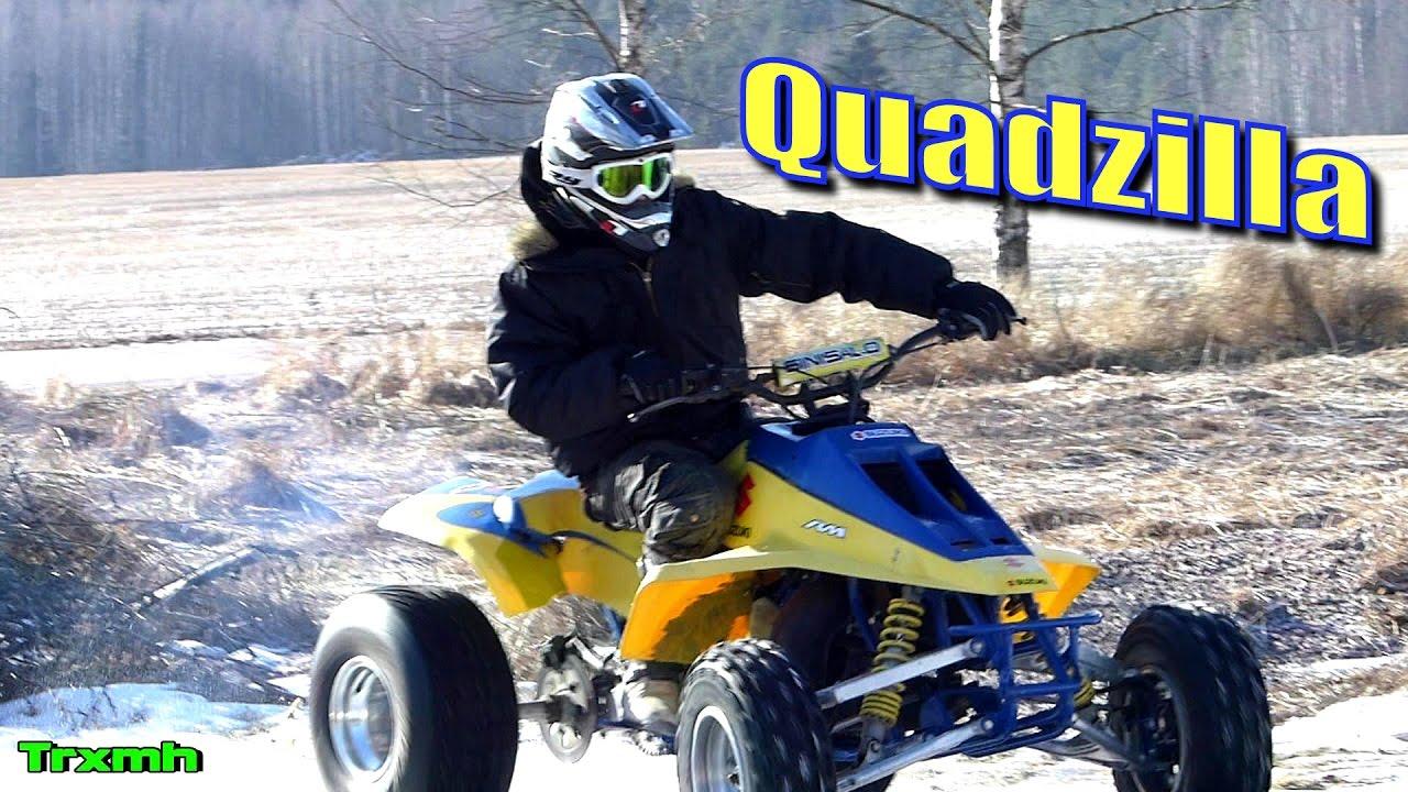 Suzuki LT500R Quadzilla 87 ATV First Start & Ride - YouTube