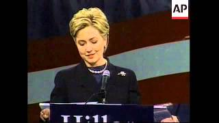 USA: NEW YORK: HILARY CLINTON ANNOUNCES SENATE BID