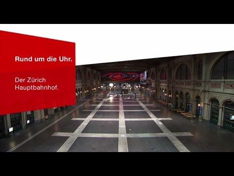 Rund um die Uhr - Zürich Hauptbahnhof.