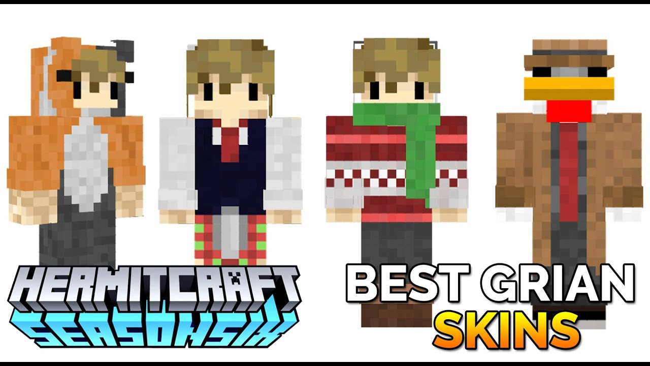 Top 10 Grian Skins of Hermitcraft 10 - The Best of Grian