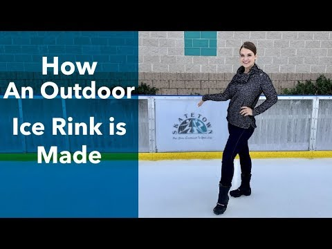 How A Seasonal Ice Rink Is Built - Outdoor Ice Skating In California