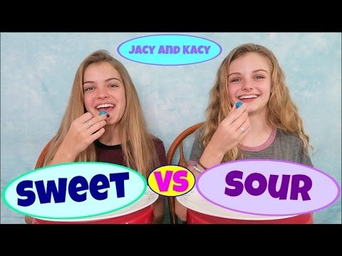Sweet vs Sour ~ Candy Challenge ~ Jacy and Kacy