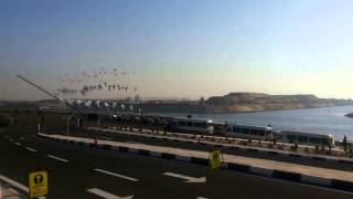 Fireworks in celebration of the new Suez Canal inaugurated navigation