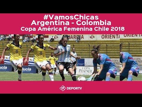 #VamosArgentina - Argentina vs. Colombia (Copa America Femenina Chile 2018)