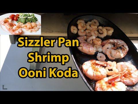 Shrimp Flamed In Sizzler Pan (Ooni Koda Pizza Oven)