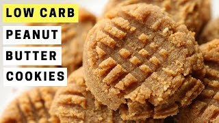 3 Ingredient Peanut Butter Cookies Recipe   LOW CARB and Great For KETO