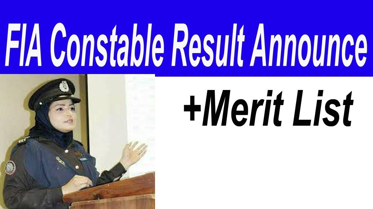 FIA Constable result announced by OTS   Fia constable result   OTS result