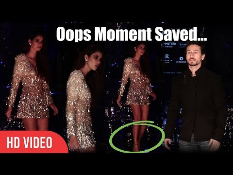 This Is How Tiger Shroff helped Disha Patani avoid an Oops moment. | Lakme Fashion Week 2017