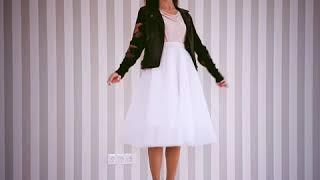 Обзор юбка пачка миди.белоснежная. бренд Natalis Dominis