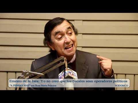 Ernesto de la Jara: Yo no creo que los fiscales sean operadores políticos