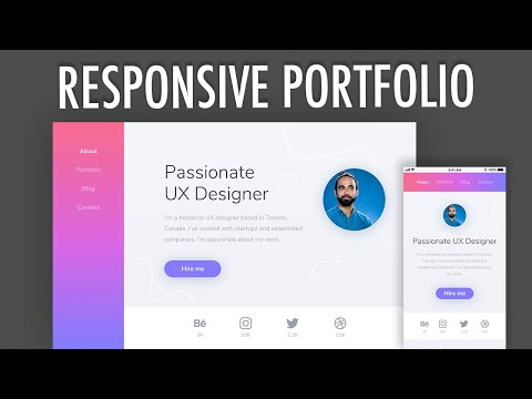 Responsive Portfolio Grid CSS Website Layout (PART 2)