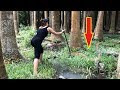 Unbelievable Girl Spear Fishing INCREDIBLY Giant Eel Fish