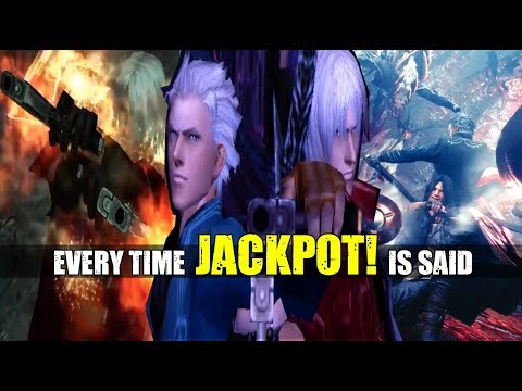 Every Time JACKPOT Is Said In The Devil May Cry Series ( DMC 1 - Devil May Cry 5 )