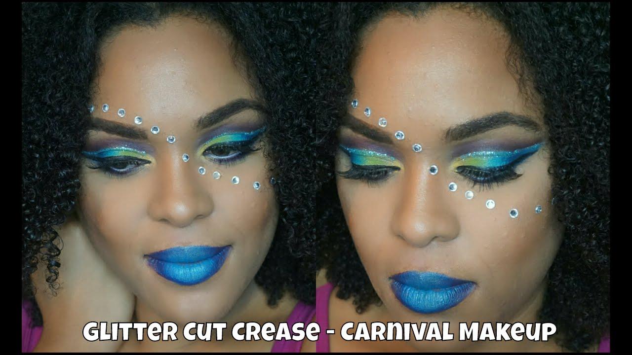 Cut Crease Glitter Liner -Carnival Makeup-Belize Carnival ...