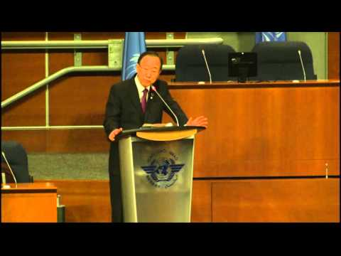 The UN Secretary-General addresses ICAO staff