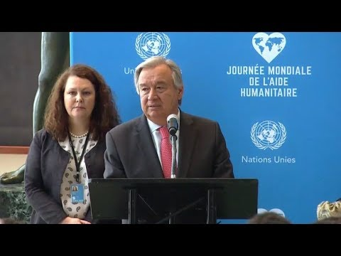 """World Humanitarian Day 2017 - Secretary-General's remarks at """"Stand Together"""" event"""