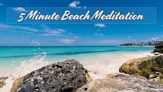 Gambar cover Guided Meditation Beach (5 minutes to Inner Calm)